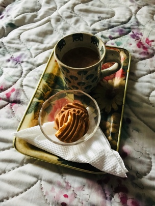 Chai with biscuits.