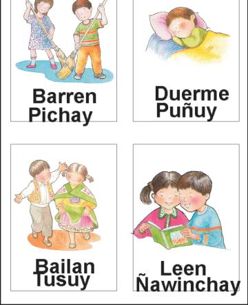 tarjetas bilingues