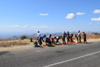 A roadside market on the way to Lake Malawi.