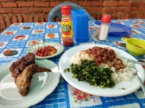 A plate of local food (minus the nsima).