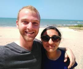Sharanya and I at the beach.