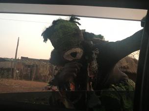 Gule Wamkulu on the way to the Lake